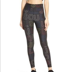 Soul by Soul Cycle High Waist Logo Print Tights